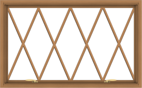 WDMA 48x30 (47.5 x 29.5 inch) Oak Wood Green Aluminum Push out Awning Window without Grids with Victorian Grills