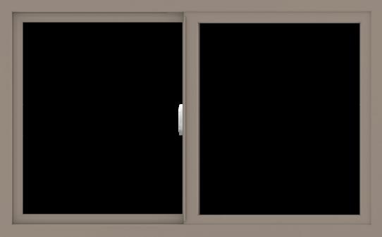 WDMA 48x30 (47.5 x 29.5 inch) Vinyl uPVC Brown Slide Window without Grids Interior