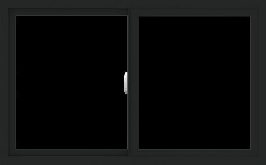 WDMA 48x30 (47.5 x 29.5 inch) Vinyl uPVC Black Slide Window without Grids Interior