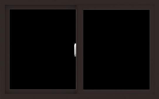 WDMA 48x30 (47.5 x 29.5 inch) Vinyl uPVC Dark Brown Slide Window without Grids Interior