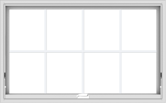 WDMA 48x30 (47.5 x 29.5 inch) White Vinyl uPVC Crank out Awning Window with Colonial Grids Interior