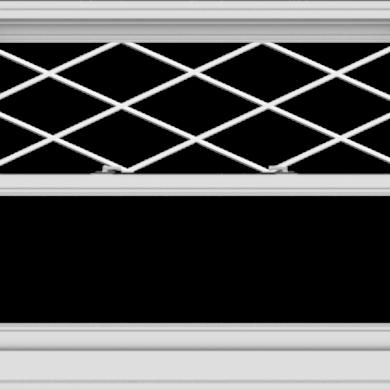 WDMA 48x36 (47.5 x 35.5 inch)  Aluminum Single Double Hung Window with Diamond Grids