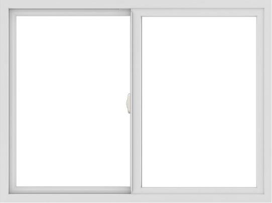 WDMA 48x36 (47.5 x 35.5 inch) Vinyl uPVC White Slide Window without Grids Interior