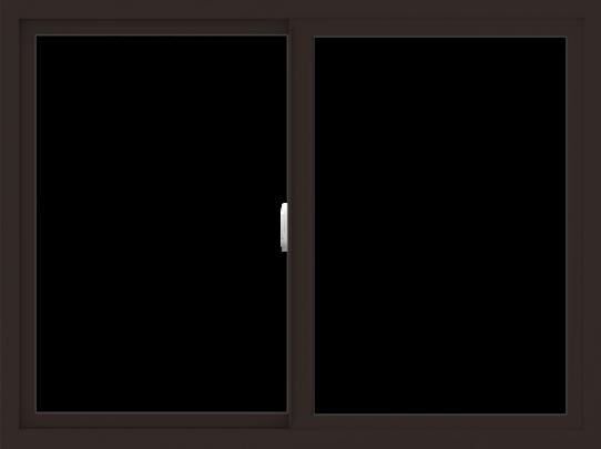 WDMA 48x36 (47.5 x 35.5 inch) Vinyl uPVC Dark Brown Slide Window without Grids Interior