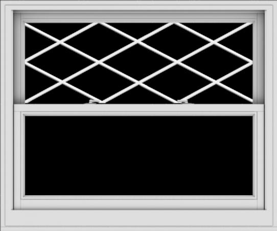 WDMA 48x40 (47.5 x 39.5 inch)  Aluminum Single Double Hung Window with Diamond Grids