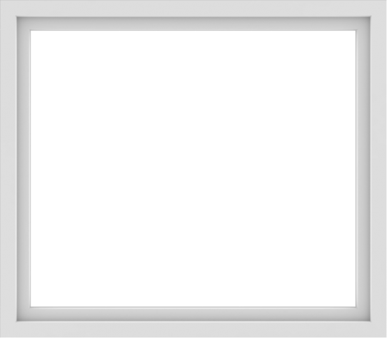 WDMA 48x42 (47.5 x 41.5 inch) Vinyl uPVC White Picture Window without Grids-1