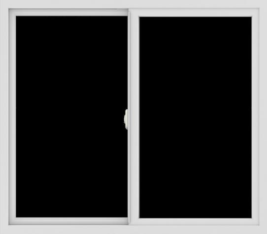 WDMA 48x42 (47.5 x 41.5 inch) Vinyl uPVC White Slide Window without Grids Interior