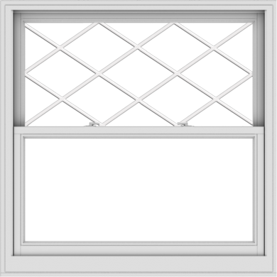 WDMA 48x48 (47.5 x 47.5 inch)  Aluminum Single Double Hung Window with Diamond Grids