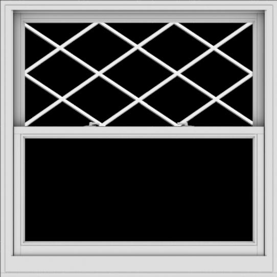 WDMA 48x48 (47.5 x 47.5 inch)  Aluminum Single Double Hung Window with Diamond Grids