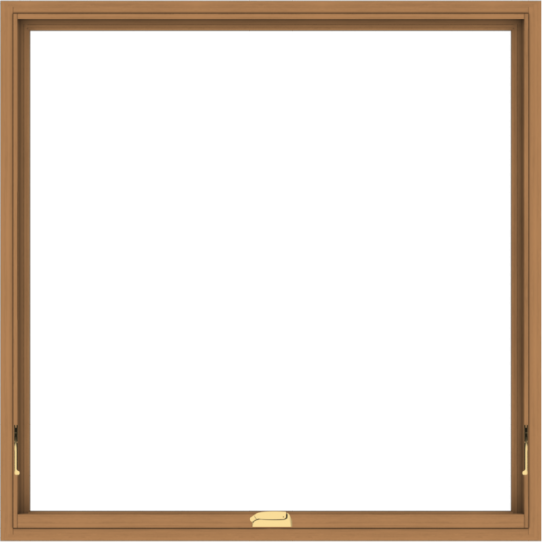 WDMA 48x48 (47.5 x 47.5 inch) Oak Wood Dark Brown Bronze Aluminum Crank out Awning Window without Grids