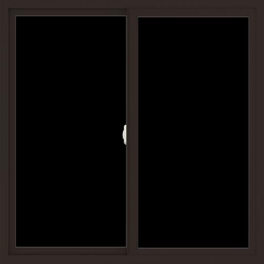 WDMA 48x48 (47.5 x 47.5 inch) Vinyl uPVC Dark Brown Slide Window without Grids Interior