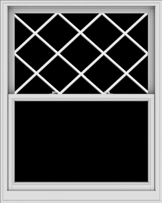 WDMA 48x60 (47.5 x 59.5 inch)  Aluminum Single Double Hung Window with Diamond Grids