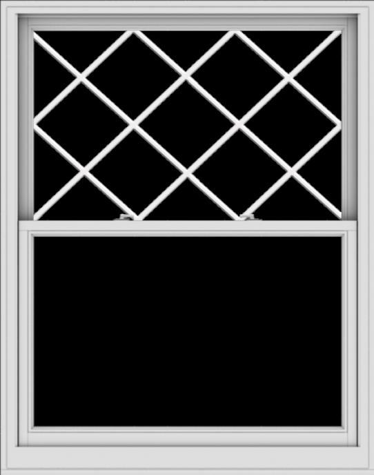 WDMA 48x61 (47.5 x 60.5 inch)  Aluminum Single Double Hung Window with Diamond Grids