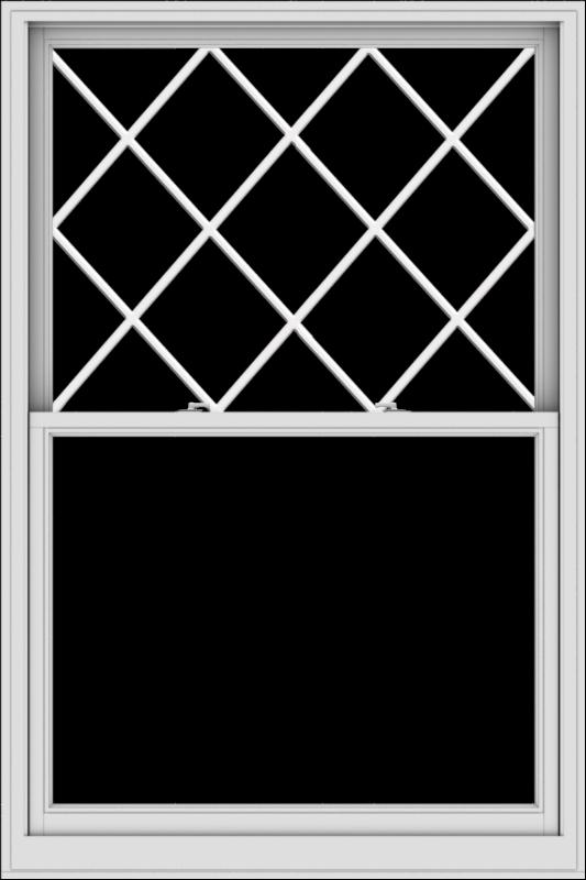 WDMA 48x72 (47.5 x 71.5 inch)  Aluminum Single Double Hung Window with Diamond Grids
