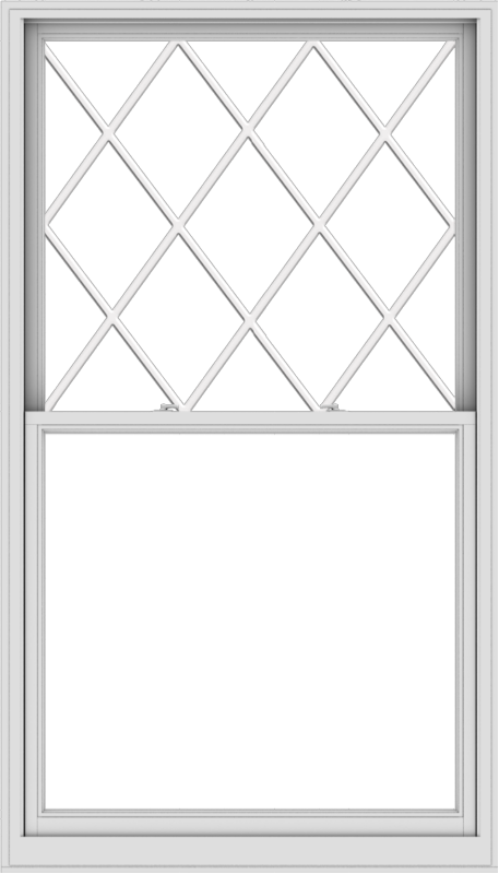 WDMA 48x84 (47.5 x 83.5 inch)  Aluminum Single Double Hung Window with Diamond Grids