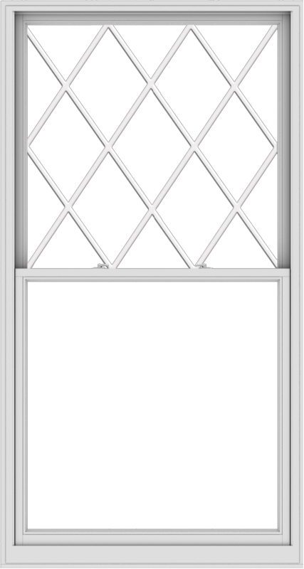WDMA 48x90 (47.5 x 89.5 inch)  Aluminum Single Double Hung Window with Diamond Grids