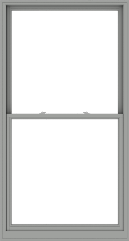WDMA 48x90 (47.5 x 89.5 inch)  Aluminum Single Double Hung Window without Grids-1