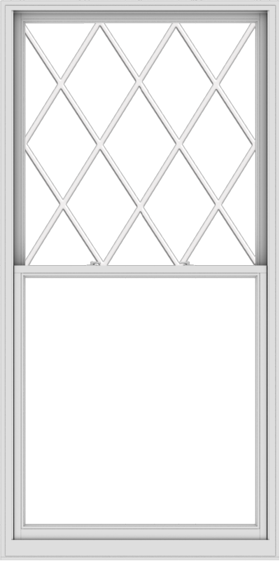 WDMA 48x96 (47.5 x 95.5 inch)  Aluminum Single Double Hung Window with Diamond Grids