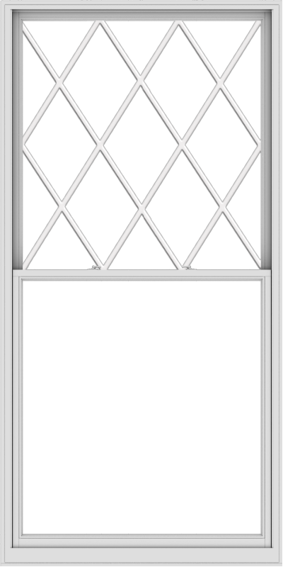 WDMA 54x108 (53.5 x 107.5 inch)  Aluminum Single Double Hung Window with Diamond Grids