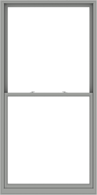 WDMA 54x108 (53.5 x 107.5 inch)  Aluminum Single Double Hung Window without Grids-1