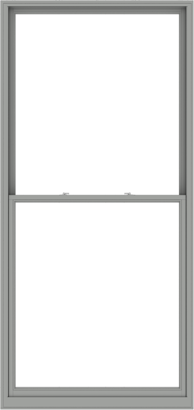 WDMA 54x114 (53.5 x 113.5 inch)  Aluminum Single Double Hung Window without Grids-1