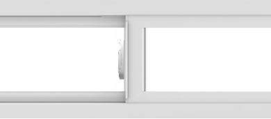 WDMA 54x12 (53.5 x 11.5 inch) Vinyl uPVC White Slide Window without Grids Interior