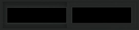 WDMA 54x12 (53.5 x 11.5 inch) Vinyl uPVC Black Slide Window without Grids Exterior