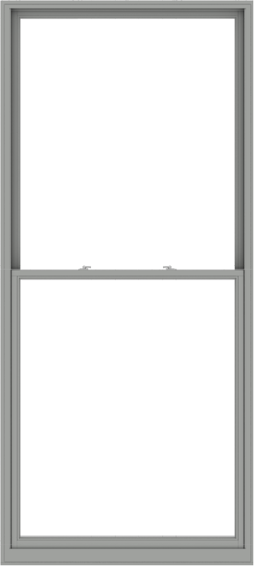 WDMA 54x120 (53.5 x 119.5 inch)  Aluminum Single Double Hung Window without Grids-1