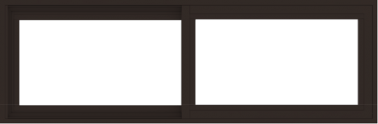 WDMA 54x18 (53.5 x 17.5 inch) Vinyl uPVC Dark Brown Slide Window without Grids Exterior