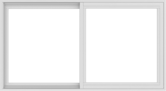 WDMA 54x30 (53.5 x 29.5 inch) Vinyl uPVC White Slide Window without Grids Interior