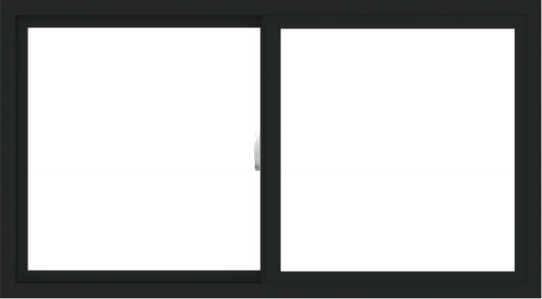 WDMA 54x30 (53.5 x 29.5 inch) Vinyl uPVC Black Slide Window without Grids Interior
