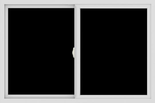 WDMA 54x36 (53.5 x 35.5 inch) Vinyl uPVC White Slide Window without Grids Interior