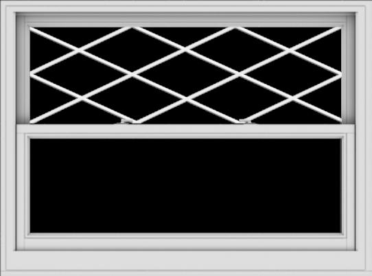 WDMA 54x40 (53.5 x 39.5 inch)  Aluminum Single Double Hung Window with Diamond Grids
