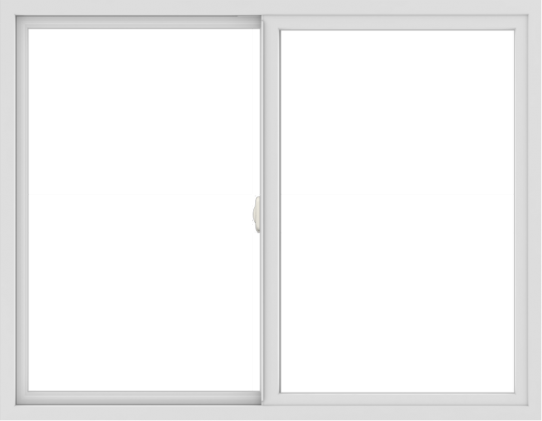 WDMA 54x42 (53.5 x 41.5 inch) Vinyl uPVC White Slide Window without Grids Interior