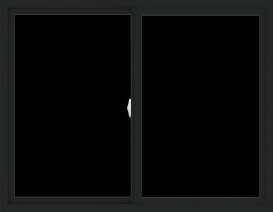 WDMA 54x42 (53.5 x 41.5 inch) Vinyl uPVC Black Slide Window without Grids Interior