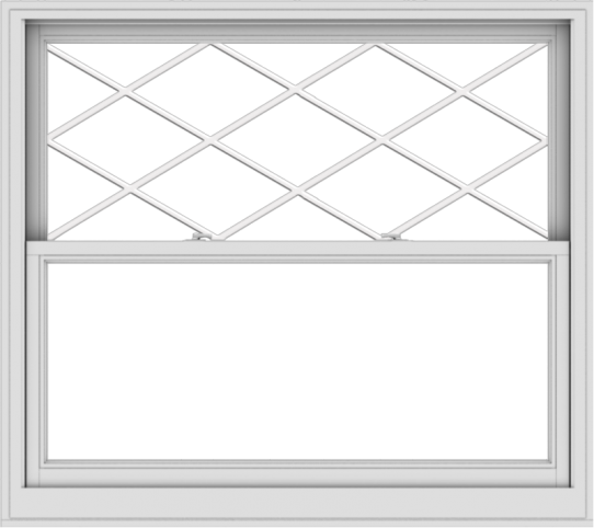 WDMA 54x48 (53.5 x 47.5 inch)  Aluminum Single Double Hung Window with Diamond Grids