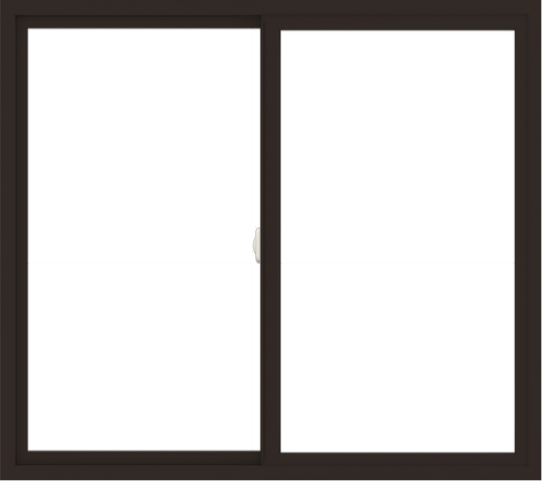 WDMA 54x48 (53.5 x 47.5 inch) Vinyl uPVC Dark Brown Slide Window without Grids Interior
