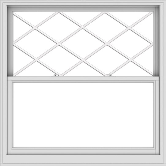WDMA 54x54 (53.5 x 53.5 inch)  Aluminum Single Double Hung Window with Diamond Grids