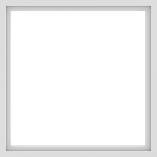 WDMA 54x54 (53.5 x 53.5 inch) Vinyl uPVC White Picture Window without Grids-1