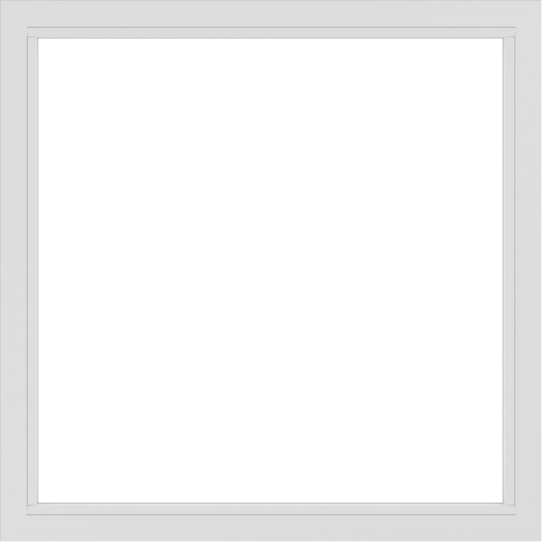 WDMA 54x54 (53.5 x 53.5 inch) Vinyl uPVC White Picture Window without Grids-2