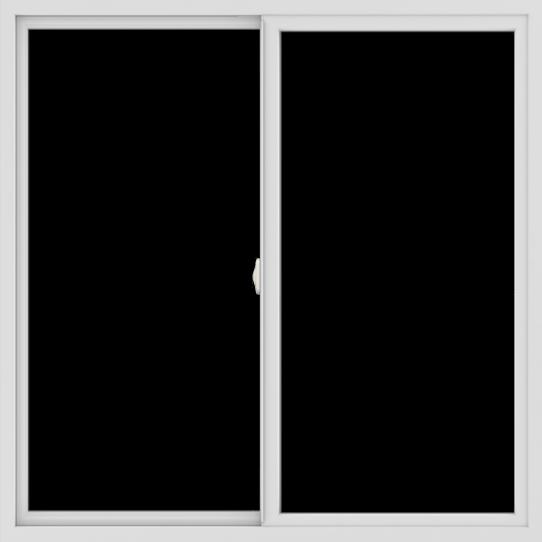 WDMA 54x54 (53.5 x 53.5 inch) Vinyl uPVC White Slide Window without Grids Interior