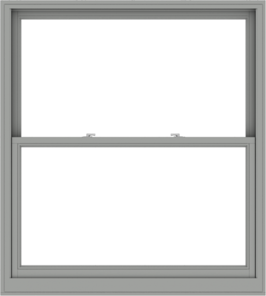 WDMA 54x60 (53.5 x 59.5 inch)  Aluminum Single Double Hung Window without Grids-1