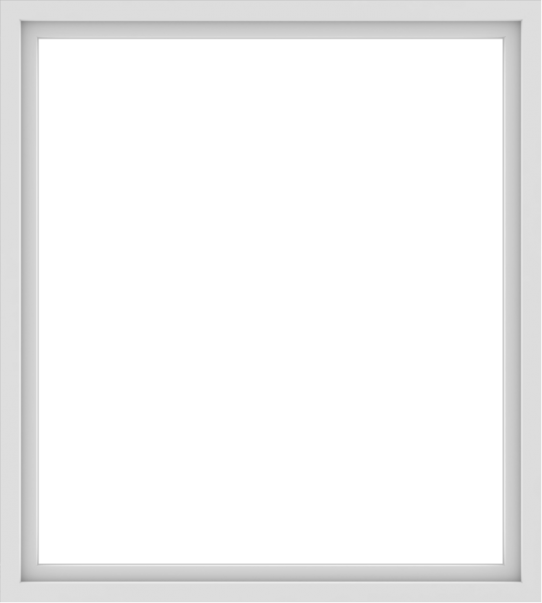 WDMA 54x60 (53.5 x 59.5 inch) Vinyl uPVC White Picture Window without Grids-1