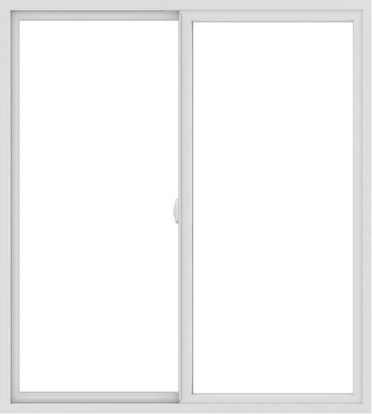 WDMA 54x60 (53.5 x 59.5 inch) Vinyl uPVC White Slide Window without Grids Interior