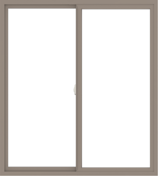 WDMA 54x60 (53.5 x 59.5 inch) Vinyl uPVC Brown Slide Window without Grids Interior