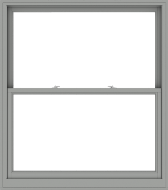 WDMA 54x61 (53.5 x 60.5 inch)  Aluminum Single Double Hung Window without Grids-1