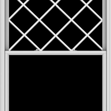 WDMA 54x72 (53.5 x 71.5 inch)  Aluminum Single Double Hung Window with Diamond Grids