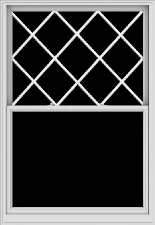 WDMA 54x78 (53.5 x 77.5 inch)  Aluminum Single Double Hung Window with Diamond Grids