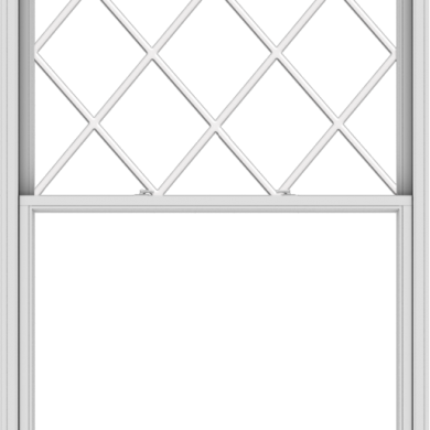 WDMA 54x84 (53.5 x 83.5 inch)  Aluminum Single Double Hung Window with Diamond Grids