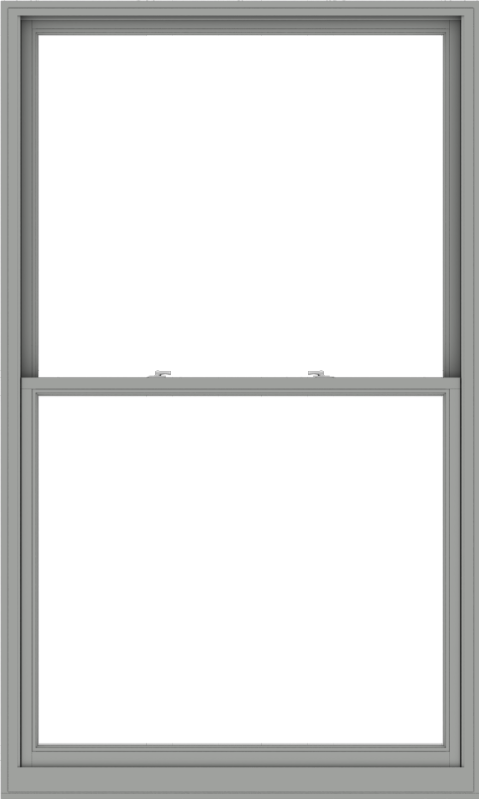 WDMA 54x90 (53.5 x 89.5 inch)  Aluminum Single Double Hung Window without Grids-1
